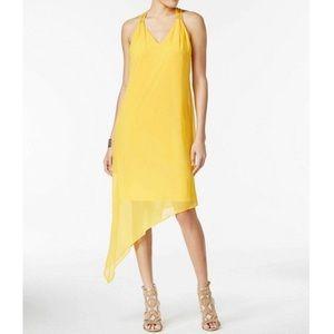 Thalia Sodi Lattice-Back Shift Dress Sun Gold